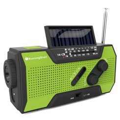 RunningSnail Solar Crank NOAA Weather Radio For Emergency