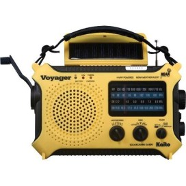 Kaito KA500 5-way Powered Solar Power,Dynamo Crank, Wind Up Emergency NOAA Weather Alert Radio