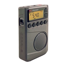 Crane CC Pocket AM FM and NOAA Weather Radio with Clock and Sleep Timer