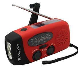 iRonsnow Dynamo Emergency Solar Hand Crank Self Powered AMFM NOAA Weather Radio