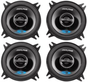 Alpine Type-S SPS-410 4″ Coaxial 2-Way Car Audio Speakers