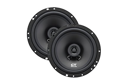 CT Sounds Bio 6.5-Inch 2-Way Silk Dome Coaxial Car Speakers (Pair)