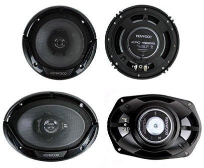 Kenwood KFC-1665S 6.5″ 300W 2-Way Plus (2) 6×9″ 400W 3-Way Car Speakers