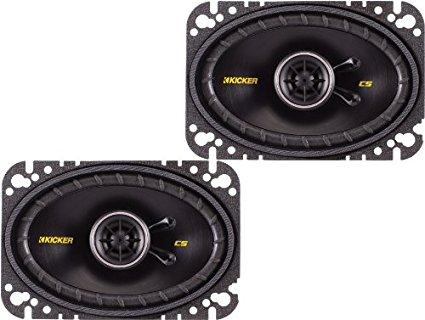 Kicker 40CS464 4×6″ CS-Series Coaxial Speakers – Pair (Black)