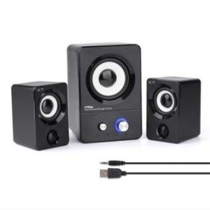 HTRise USB Powered Computer Speakers System (X7 Black) for Gaming Music Movies, Active Multimedia Stereo Subwoofer for Laptop Desktop LenovoHP ThinkPad IBM DELL SONYMACFEESAMSUNGACERMicrosoftPC
