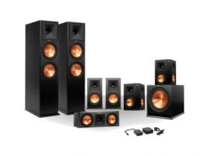 Klipsch 7.1 RP-250 Reference Premiere Surround Sound Speaker Package with R-110SW Subwoofer and a FREE Wireless Kit (Ebony) (Top Pick)