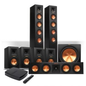 Klipsch Reference Premiere HD Wireless 7.1 Floorstanding and Monitor System with 10″ Subwoofer