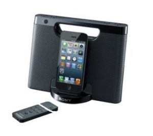Sony RDP-M7IPN Lightning iPhoneiPod Portable Speaker Dock – Black