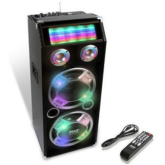 FM Portable Bluetooth Speaker Wireless Stereo Loud Super Bass Sound LED Lights