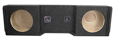 """DOUBLE TWIN 12/"""" CAR SUBWOOFER SEALED ENCLOSURE 12IN SUB WOOFER SPEAKER BOX CAR!!"""