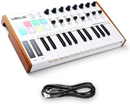 Vangoa Worlde Tuna Mini MIDI Keyboard Controller